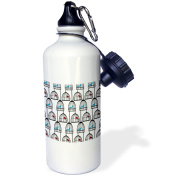 3dRose Red and Blue Birds and Birds Cages, Sports Water Bottle, 620ml