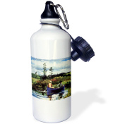 3dRose Photo of 1892 Winslow Homer Painting The Blue Boat, Sports Water Bottle, 620ml