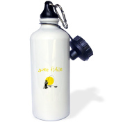 3dRose gone fishing, picture of man fly fishing in river, gold lettering, Sports Water Bottle, 620ml