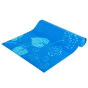Tone Fitness Yoga Mat with Carry Strap, Blue Leaf