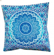 Rastogi Handicrafts Pillow Sham Decorative Mandala Cushion Cover Meditation Pillow,Ethnic Cotton Cushion cover