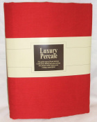 Extra Deep 33cm Super Single 3FT6ft x 1.8m Bed Chilli Red Fitted Sheet+ Free Piillowcase