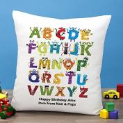 Personalised Monster Alphabet Cushion