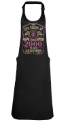 Life Begins At 18 APRON Ladies Born in 2000 The year of Legends Birthday Gift BBQ GRILL Kitchen Cooking Chef
