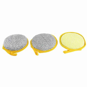Move & Moving(TM) Polyester Kitchen Round Style Dishwashing Tool Silver Tone 3 Pcs