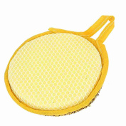Move & Moving(TM) Yellow Gold Tone Sponge Bowl Dish Scrubber Cleaning Pad for Kitchen