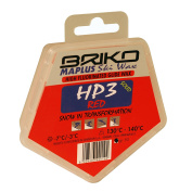Briko Maplus High Fluoro Ski and Snowboard Solid Wax - Red, 50 g