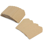 Nalmatoionme DIY Wedding Card Accessories Scalloped Kraft Paper Recyclable Price Hang Tag