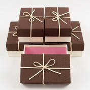 6 x Rectangular Gift Boxes with Sudette Box Embellishment Wedding Party Favour Box, Gift Box,