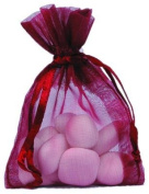 Hobi - 10 Organza Bags for Sugared Almonds - Various Colours burgundy