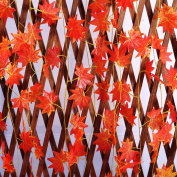 MultiWare Artificial Autumn Fall Maple Leaves Wedding Home Décor Red Autumn Leaves Fake 2.4m
