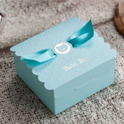PONATIA 25PCS Candy Favour Box Christening Baby Shower Party Bomboniere Favours