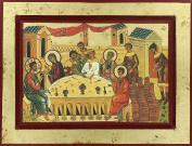 Wedding of Cana Icon on Wood 24 x 18 cm