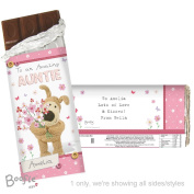 Personalised Boofle Flowers Chocolate Bar Personalised This Is A Perfect Sweet Treat To Give To