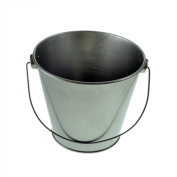 Large Silver Single Bucket 10cm Tall Decorative or Craft XNX012