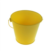 Large Yellow Single Bucket 10cm Tall Decorative or Craft XNX013