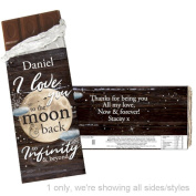 Personalised To The Moon & Infinity Chocolate Bar Personalised A Great Way To Show That Special