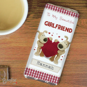 Personalised Boofle Shared Heart Chocolate Bar Personalised This Is A Perfect Sweet Treat For