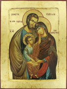 Wooden Icon Picture The Holy Family cm 10 x 13