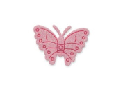 CLUB GREEN Self Adhesive Glitter Butterfly, Pink, 12 per sheet