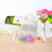 Tia-Ve 100 White Organza Wedding Favour Bags Jewellery Pouches 9cm x 12cm. without free gifts