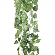 M-G-X 90cm Artificial Fake Faux Plant Decorative Hanging Green Leaves Garland Wedding