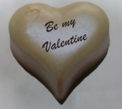 4 large Cream Valentines Heart Gift Stickers - Realistic 3D effect