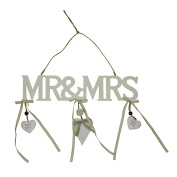 "Amore Hanging plaque Cutout Letters ""Mr & Mrs"""