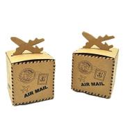 European Style Retro Creative Plane Kraft Paper Wedding Favour Candy Gifts Boxes