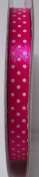 Tape Tapes Double Faced Satin Polka Dot Width 10 mm Length 50 Metres FUCSIA BRILLANTE