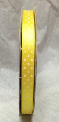 Tape Tapes Double Faced Satin Polka Dot Width 10 mm Length 50 Metres yellow