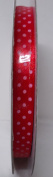 Tape Tapes Double Faced Satin Polka Dot Width 10 mm Length 50 Metres red