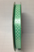 Tape Tapes Double Faced Satin Polka Dot Width 10 mm Length 50 Metres Tiffany