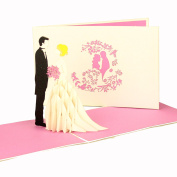 'Pop Up 3D Bride and Groom – Wedding Day Card, 3D Folding Card, Wedding, Wedding Invitations by COLOGNE Cards | Pop-Up Cards Wedding Invitations