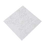 Elistelle Wedding Invitations Cards Hollow Flora Favours Pearl Paper Cardstock