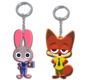 5.1cm Zootopia Officer Judy Hopps & Nick Wilde Figures Toys Charms Keychain Dangle, 5.1cm Zootopia Officer Judy Hopps & Nick Wilde Figures Toys Charms Keychain Dangle By Generic