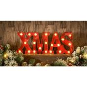 Stunning Christmas Themed Light Up Words - Xmas