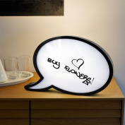 Sentik® Speech Bubble LED Light Up Box Write Your Own Message Display Draw Comic Strip Style Letter Number Home Decor Bedroom Shop Party Wedding Gift With Marker Pen