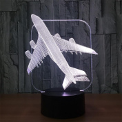 baby Q 3D LED Night Light, Plane Colourful Touch Lights, Acrylic Bedside Lamps, USB Lights