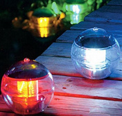 Kingwin Solar LED Floating Ball Nightlight Rotating Colour Changing Floating Lamp