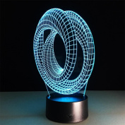 baby Q 3D LED Night Light, Colourful Acrylic Touch Lights, Visual Stereo Lights, USB Lights