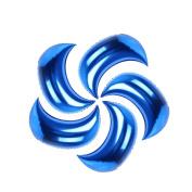 Zantec 5pcs 90cm Moon Balloon Large Wedding Christmas Aluminium Foil Decoration(not Include Pneumatic tools)Blue