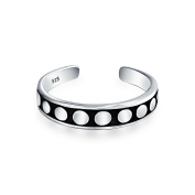 Bling Jewellery 925 Sterling Silver Dot Mid Finger Ring Bali Style Toe Rings