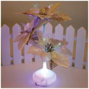 Christmas Fibre Light, Outgeek Christmas Party Fibre Optic Light Colourful Flower Leaves Night Light