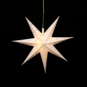 Falke Steiner Advent Star with LED Lights and Adapter 7 Tips Plastic Pill Box, 45 cm, for indoor or outdoor use. Choose Your Colour using Drop Down Menu White