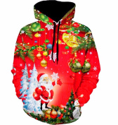 Christmas Hoodies Sweatershirt, Xinantime Women Man Santa Claus Snowman Pullover Tops Blouse