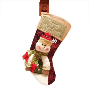 LKKLILY-Christmas decorations for Santa Claus snowman socks Christmas stocking Christmas stockings for Christmas stockings-A snowman