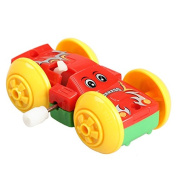 Domybest Clockwork Cars Children Wind Up Two-sided Pattern Car Model Toy Funny Toys Xmas Gift