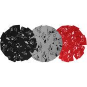 COM-FOUR ® 9x Felt Pan Protector Anti Scratch for Pans with Pattern, Black, Red and Grey