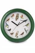 Zeon Tech Birdsong Wall Clock, Green, 24 x 24 x 1 cm